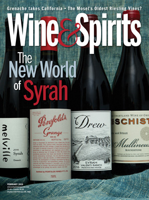 cover of Wine & Spirits magazine February 2019